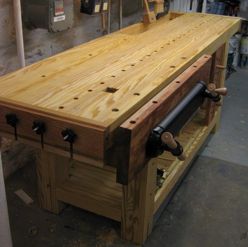 woodworking bench front vise