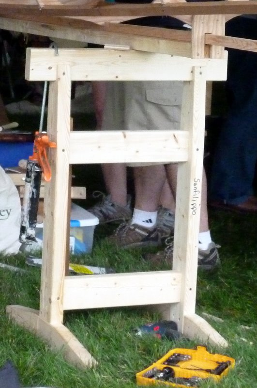 how to build a canoe sawhorse